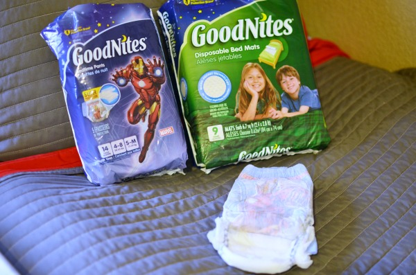 Easy Bedside Organizer + Nighttime Wetting Survival Tips. ad #RestEasySolutions