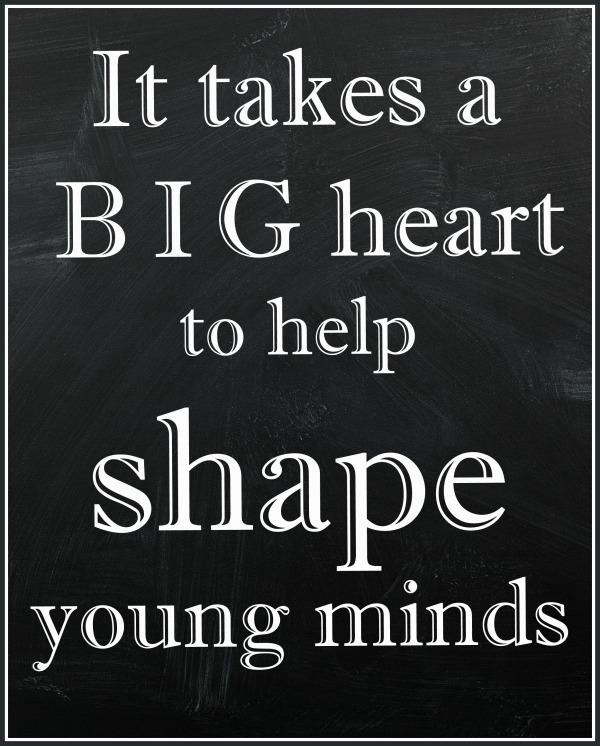 Teacher Appreciation Quote Chalkboard | printable