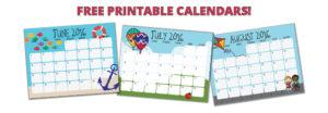 Printable Summer Calendar