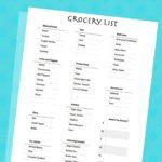 FREE Printable Grocery List. ad @SheSpeaksUp @Walmart #AvoidTheOops