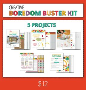 Printable Boredom Buster Activity Sheets | Kick the summer boredom slump with these sets all ready for creativity and adventure.