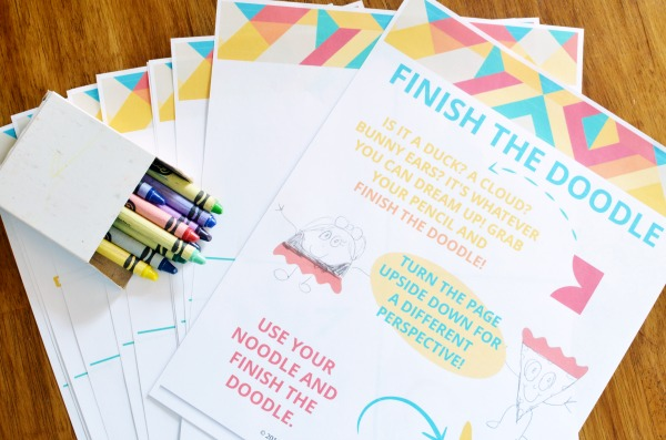 Finish the Doodle | Story Cubes | Printable Boredom Buster Activity Sheets | Kick the summer boredom slump with these sets all ready for creativity and adventure.