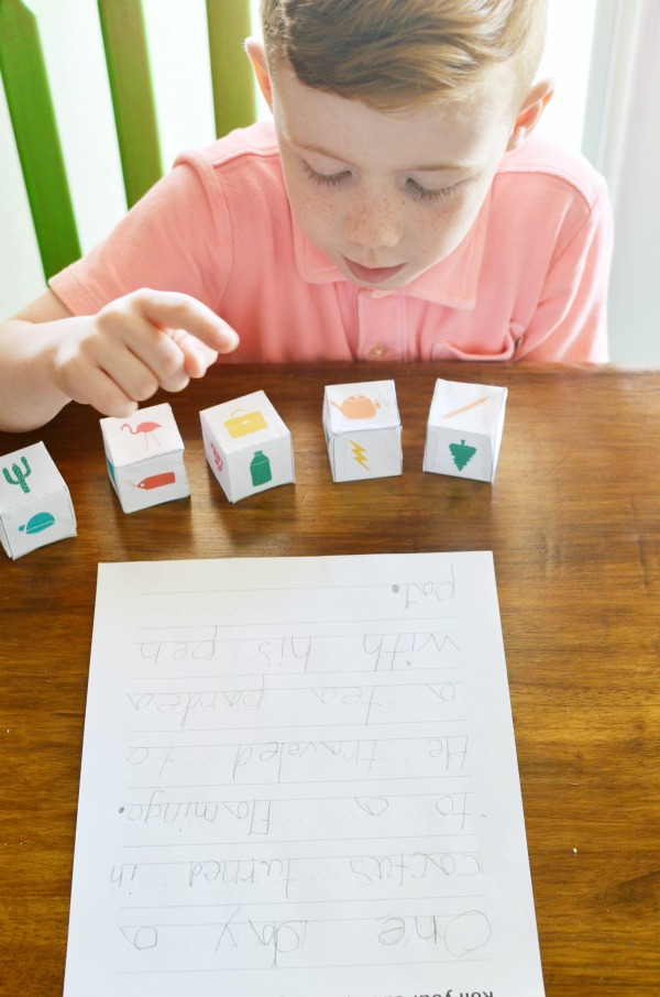 Story Cubes | Printable Boredom Buster Activity Sheets | Kick the summer boredom slump with these sets all ready for creativity and adventure.