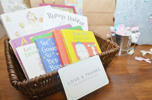 """""""Love and Thanks for the Gift of Reading""""   Baby Shower Book Request"""