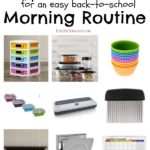 Back to School Tips for organizing and managing your back to school morning routine. #ad #WayfairHomemakers