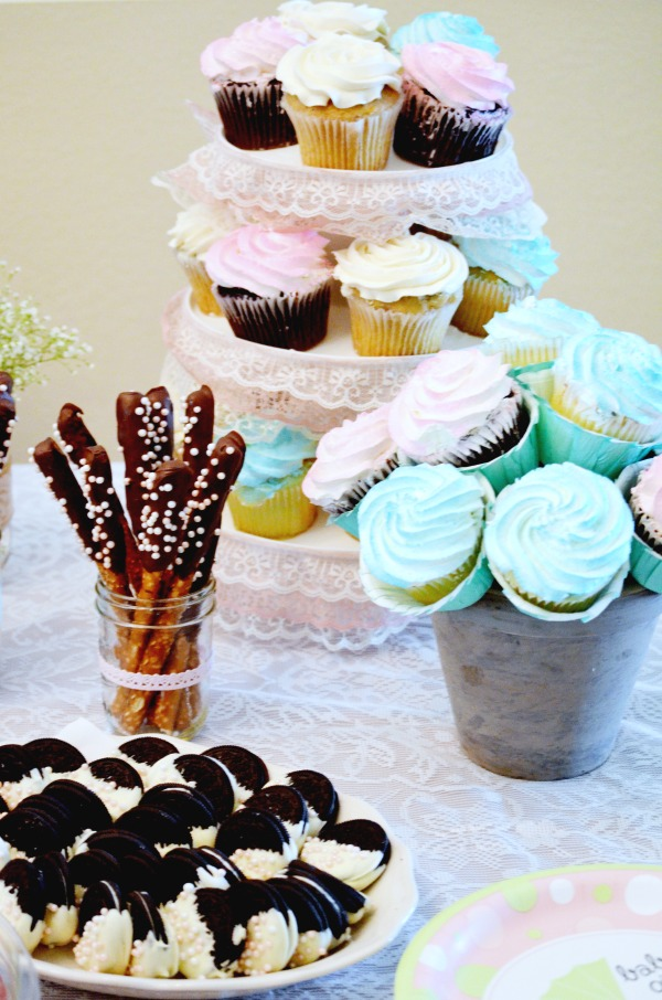 Shabby Chic Baby Shower Treats