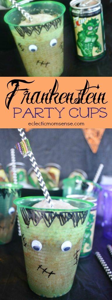 Frankenstein Party Cups