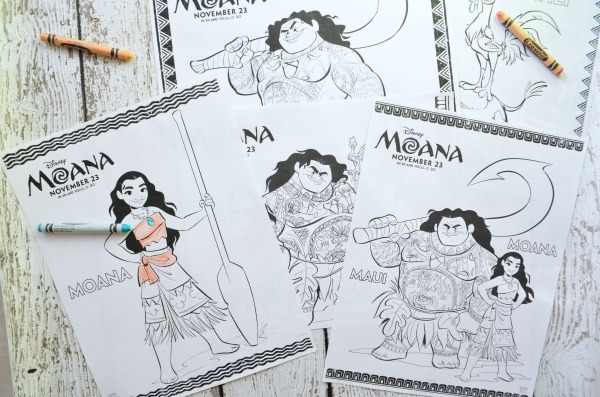 "FREE Moana printable coloring sheets and activities. Plus watch a clip of the song ""Your Welcome""."