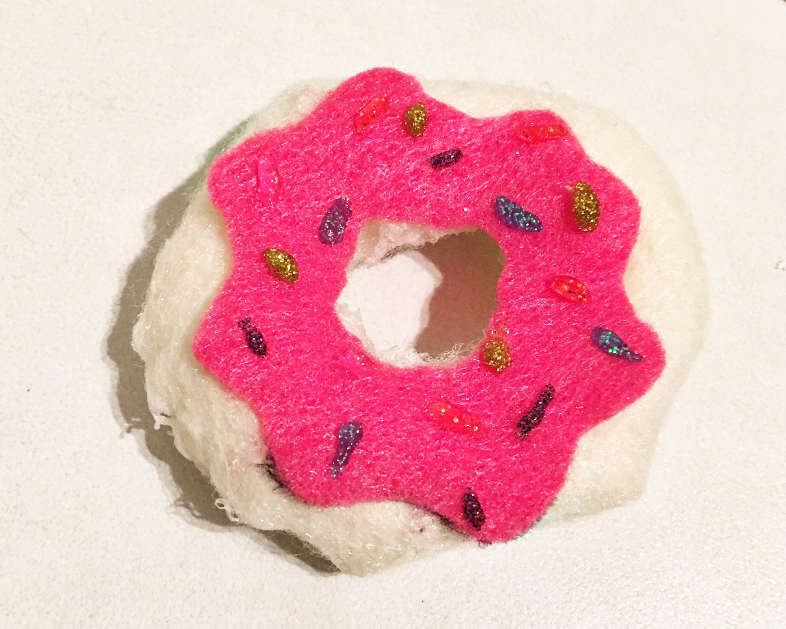 Clawhausers' cherry sprinkle donut DIY