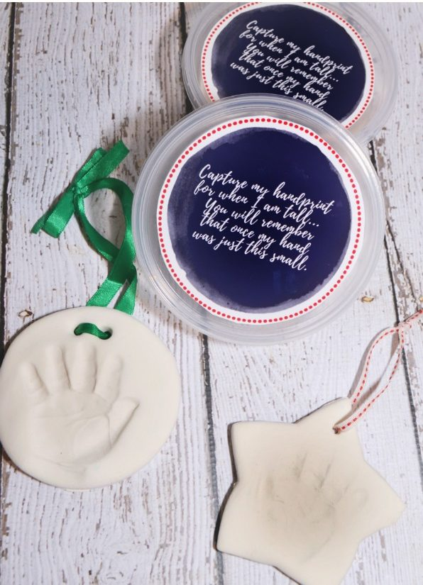 Baby's First Holiday Keepsakes: Handprint Ornament Kit,