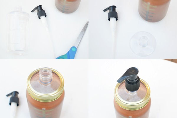 Make a touchdown with this DIY frosted mason jar soap dispenser, it looks just like a football. Plus a game day worthy guest bathroom refresh.