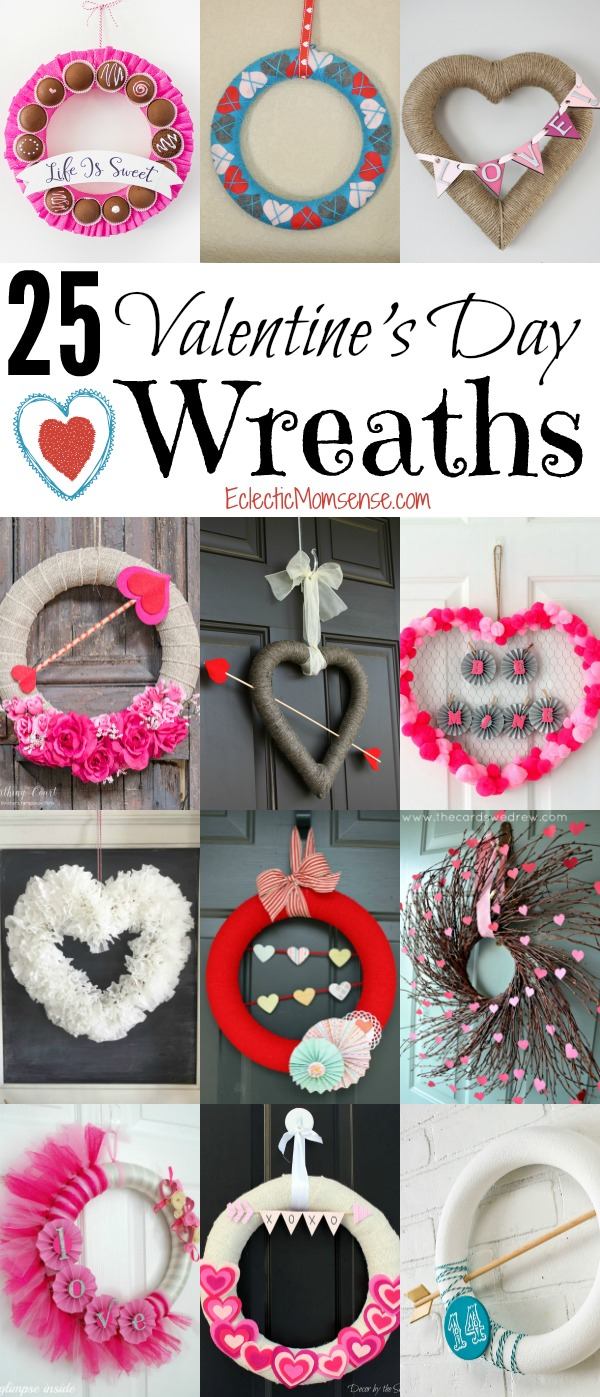 25 DIY Valentine's Day Wreaths- Adorn your home with a beautiful wreath full of love.
