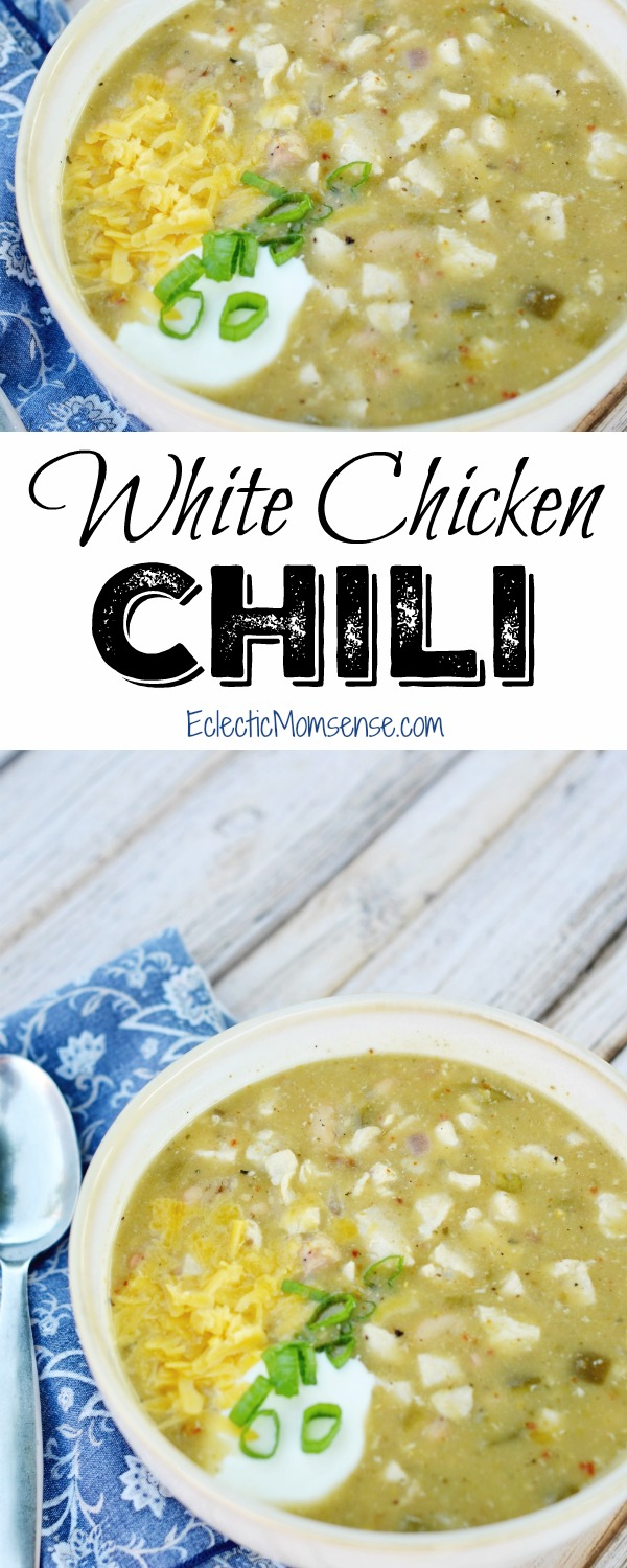 White Chicken Chili- easy 15 minute meal