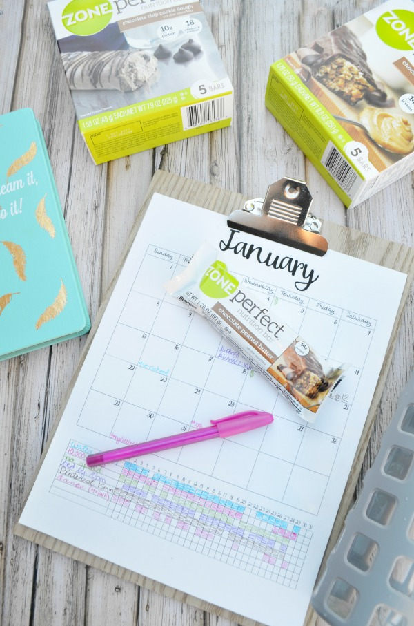 Printable Calendar with Habit Tracking. #MyLittleWins #ad @Walmart @Zoneperfect