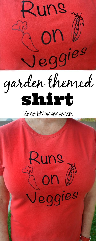 The secret to long lasting heat transfer shirts. Plus a fun garden themed shirt design.