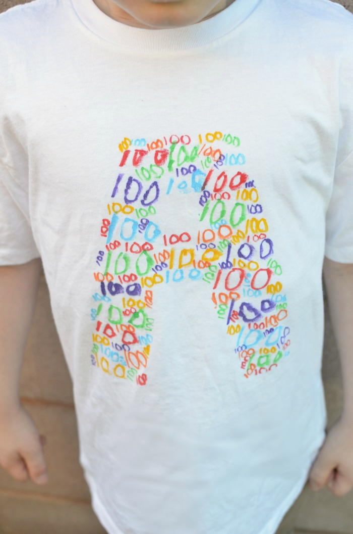 Get the kids involved in making easy DIY stencil s-shirts.