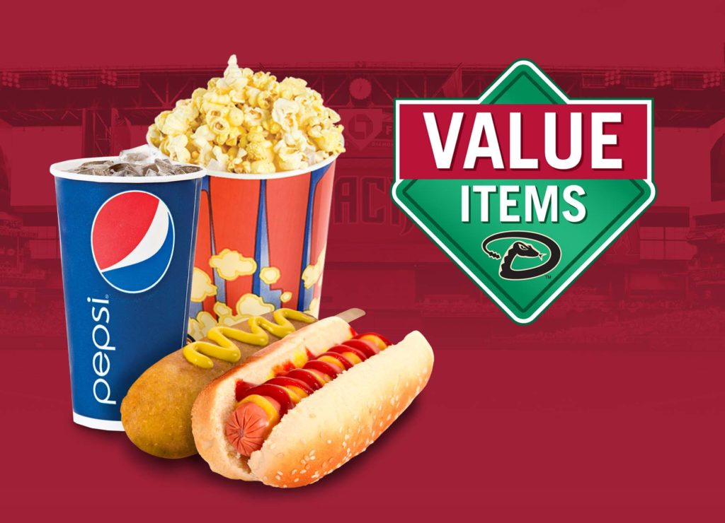 Value Items at Chase Field