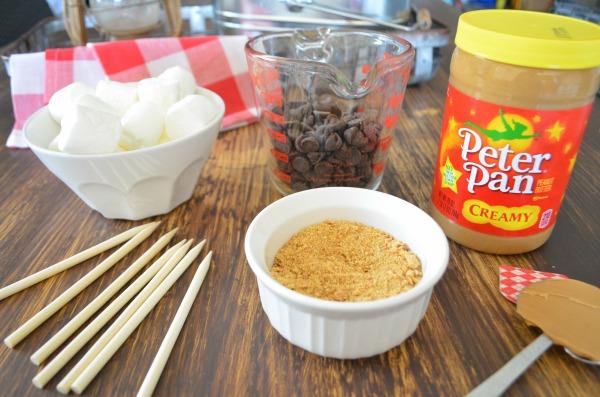 Peanut Butter S'mores Pops