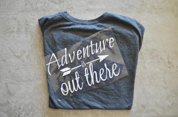 Adventure t-shirt steps