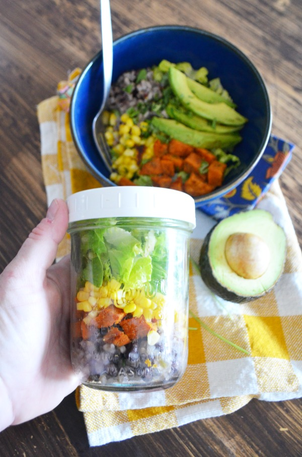 on the go burrito bowl jars