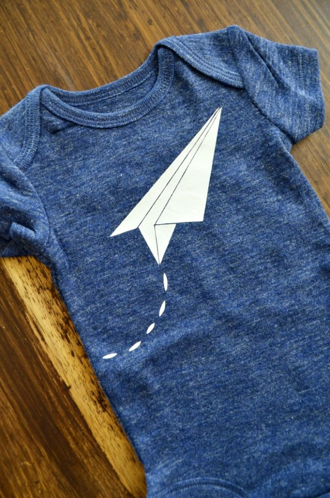 Heat Transfer Vinyl Paper Airplane Design