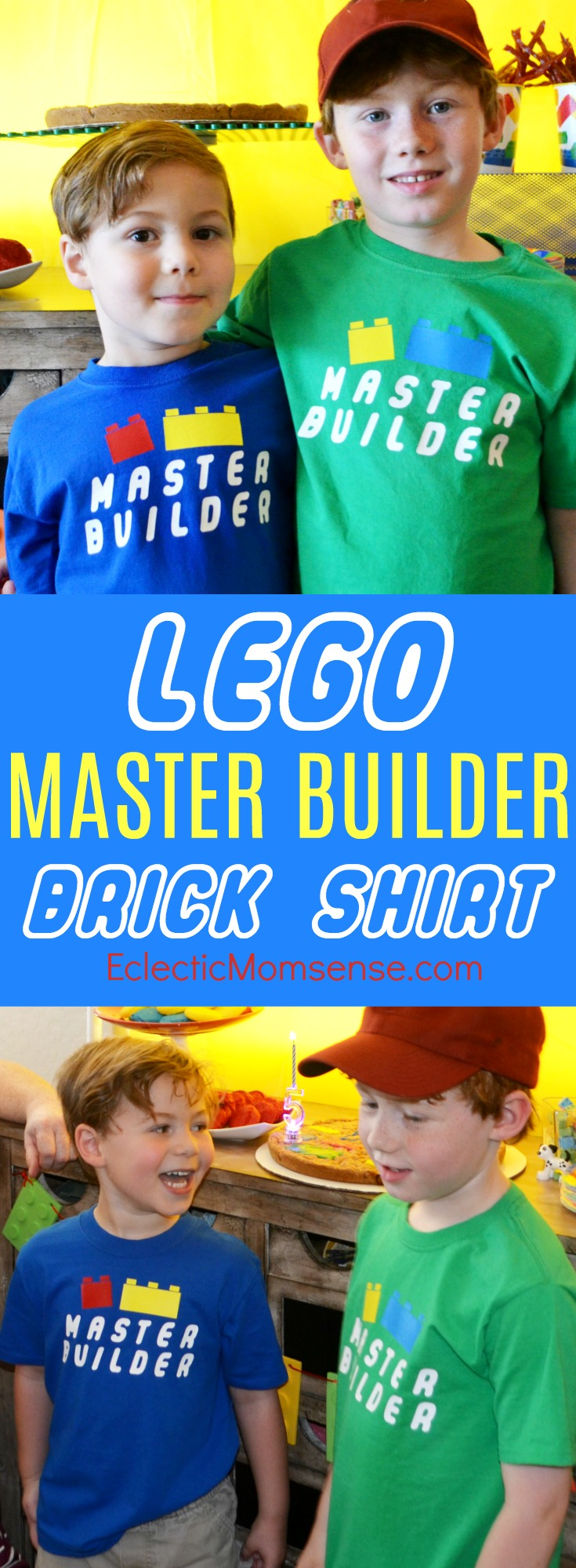 LEGO Master Builder bricks shirt