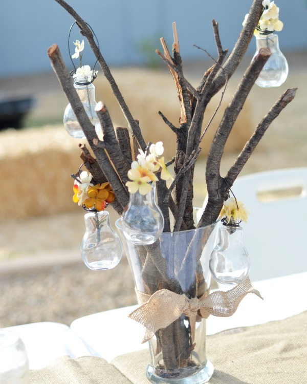 rustic branch arrangement