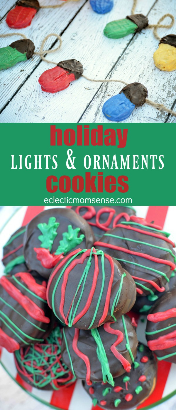 lights and ornament cookies