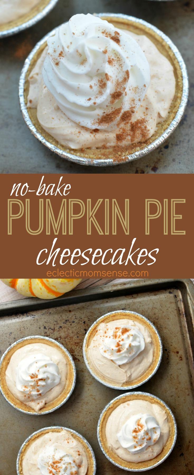 no-bake Pumpkin Pie Cheesecakes