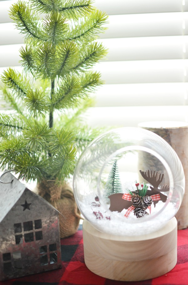 winter scene terrarium