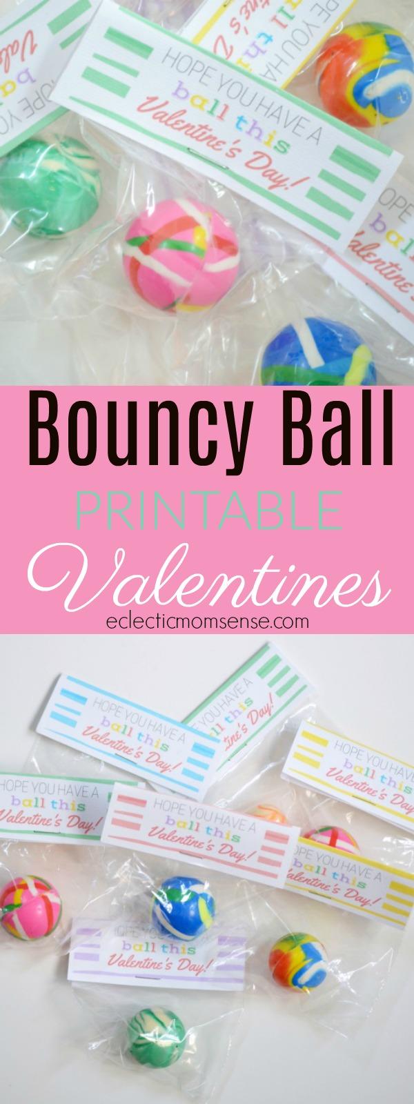 Printable Bouncy Ball Valentine