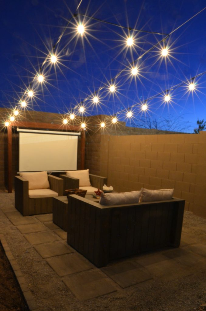 Outdoor Entertaining How To Hang Cafe Lights Eclectic Momsense