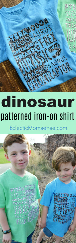 Dino Patterned Iron-On Shirt