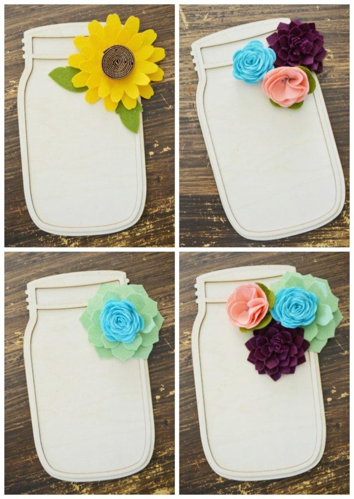 felt flower embellishments
