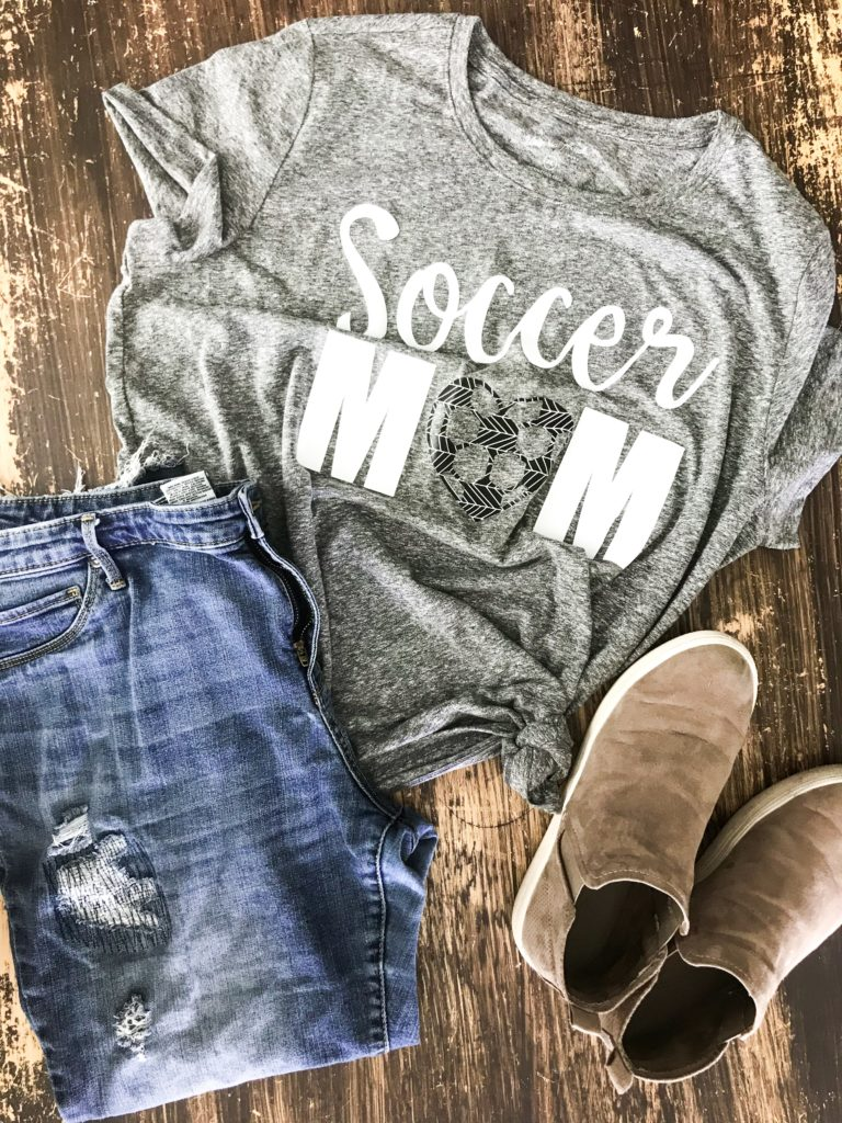 soccer iron-on design