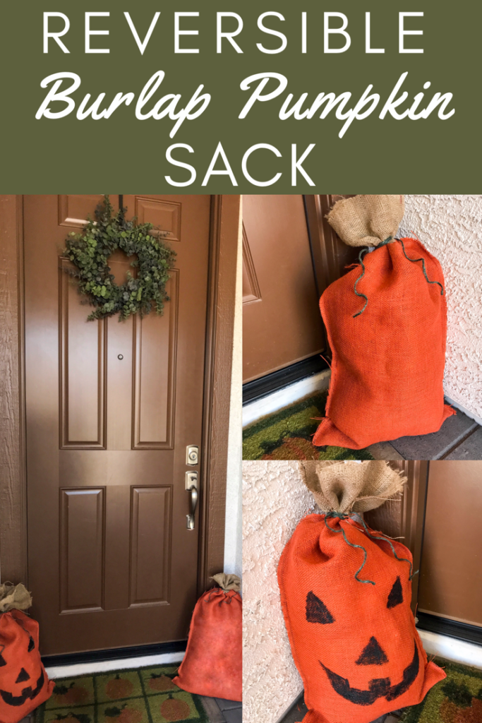 burlap pumpkin sack