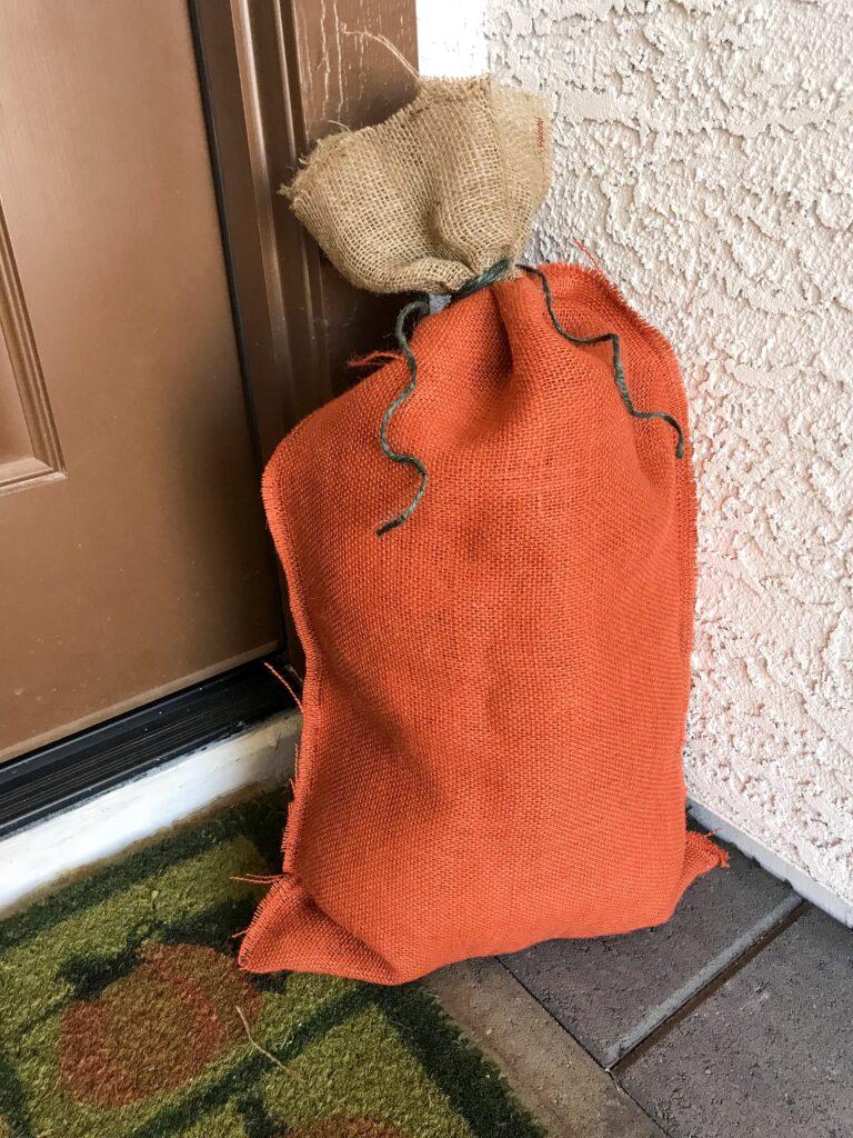 Burlap Pumpkin bag