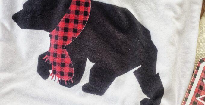bear matching holiday pajamas