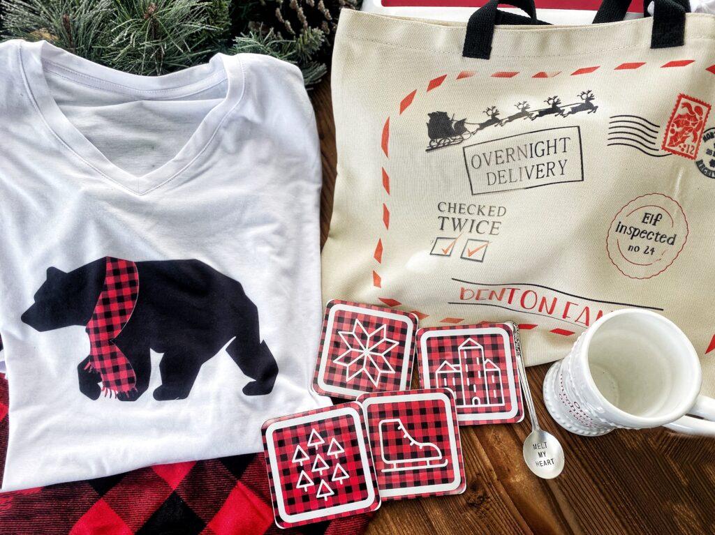 buffalo plaid holiday gift set