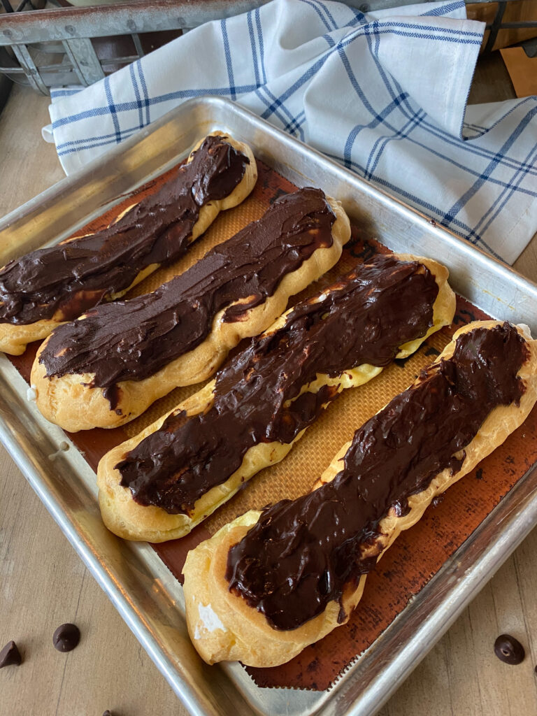 Homemade Eclairs with Spiced Whipped Cream