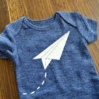 Paper Airplane Onesie | FREE Design File