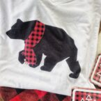 bear matching holiday pajamas