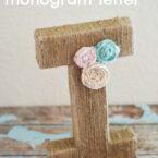 Jute Wrapped Monogram Letter