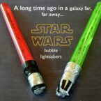 Lightsaber Bubbles: Star Wars Party Favor