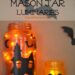 Halloween Mason Jar Lanterns + Learn how to tint mason jars with supplies you have on hand. #Hallowen #craft