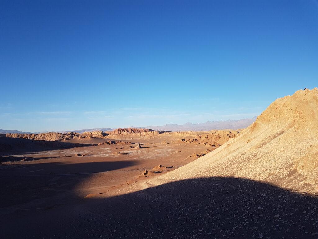 Deserto em dia ensolarado