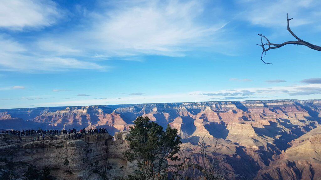 Grand Canyon borda sul visto de cima