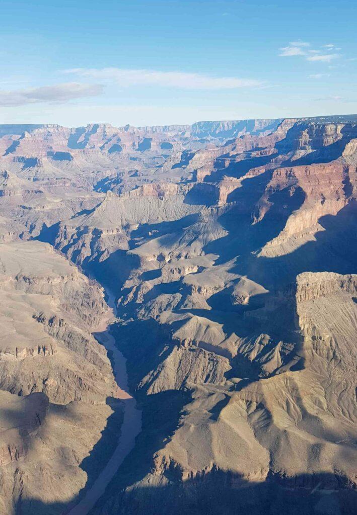 Grand Canyon e Rio Colorado vistos de cima