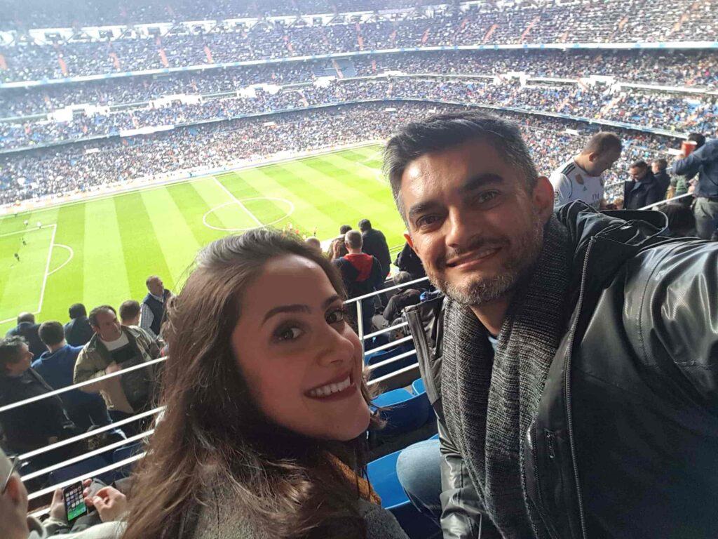 Casla assistindo jogo Real Madrid X Sevilla