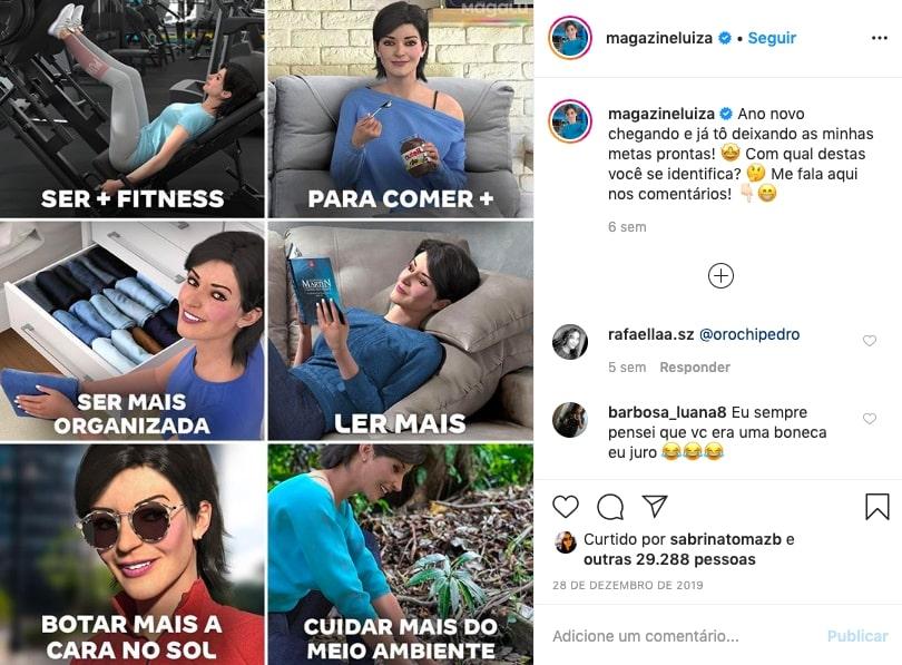 Lu do Magalu no instagram